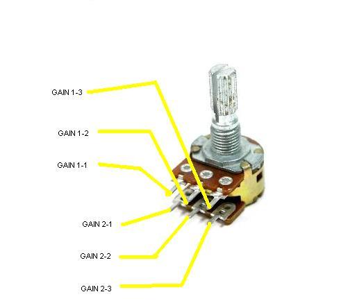 Dual 2 Ohm Wiring Diagram:  Dual Gang Potentiometer Wiring