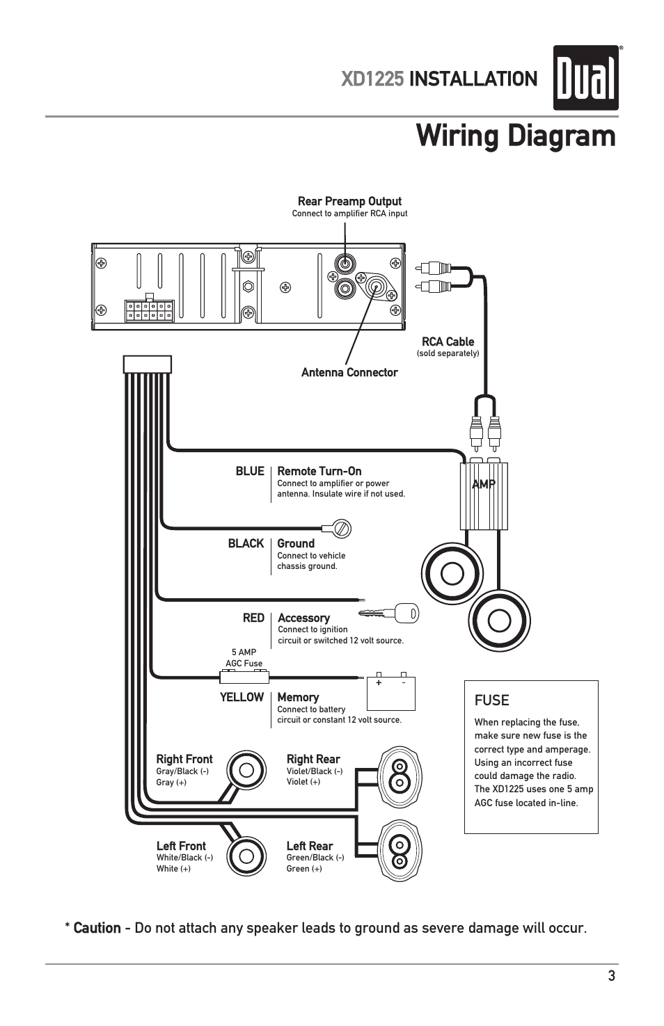 Dual Xd7500 Wiring Diagram from diagramweb.net