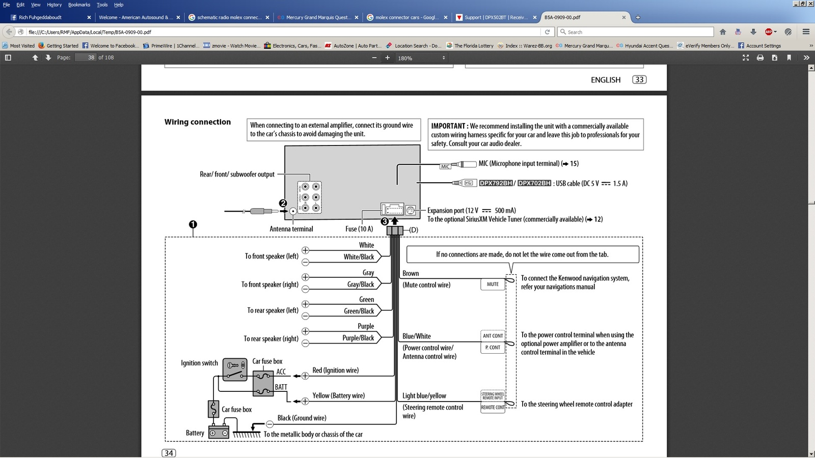 Dual Xdm16bt Wiring Diagram
