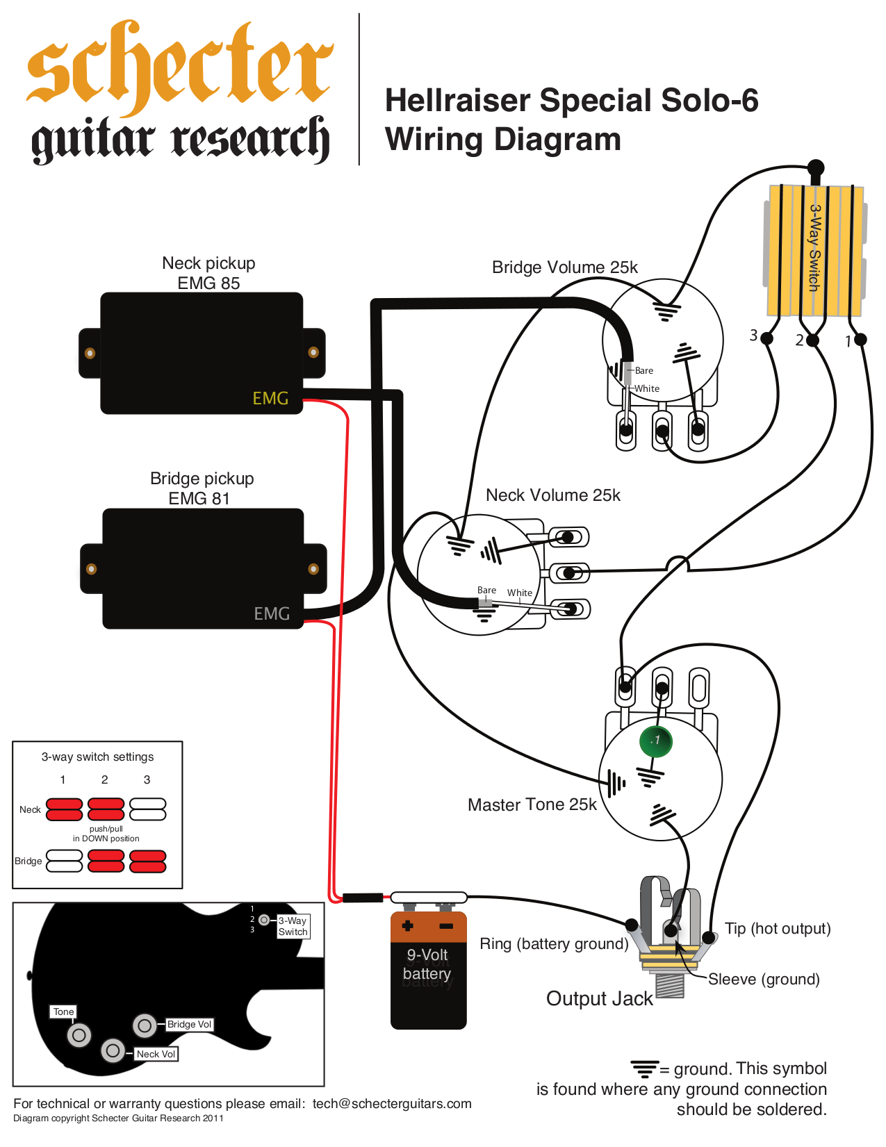 Emg 81 85 Les Paul Wiring Diagram