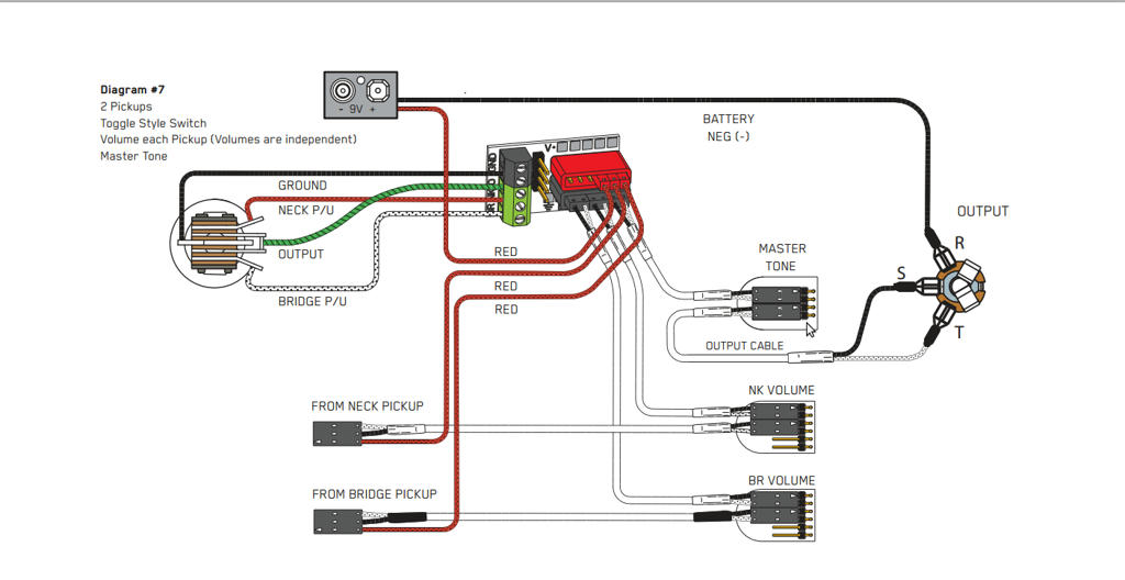 Emg Wiring Diagram Two Volume One Tone 3 Way Blade Selector on