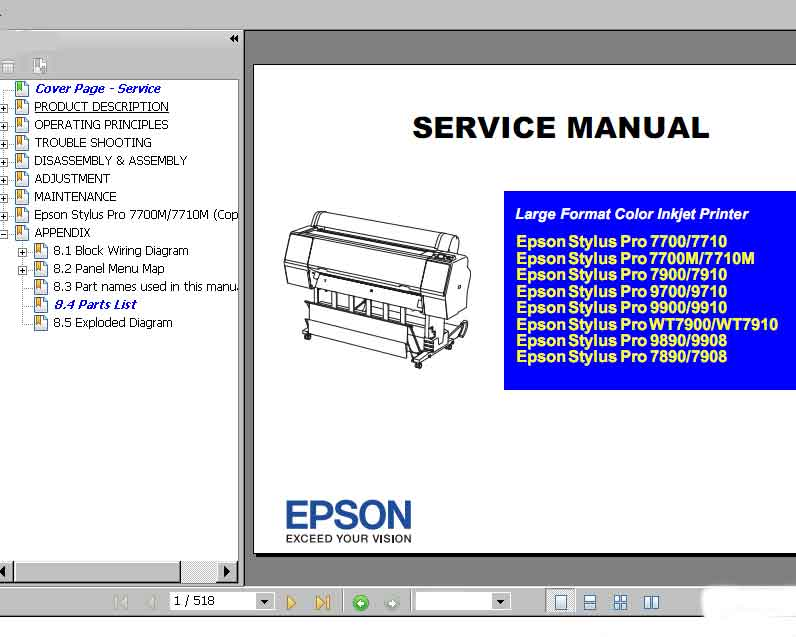 Epson 1430 Wiring Diagram
