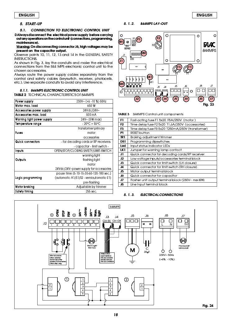 Faac Gate Wiring Diagram