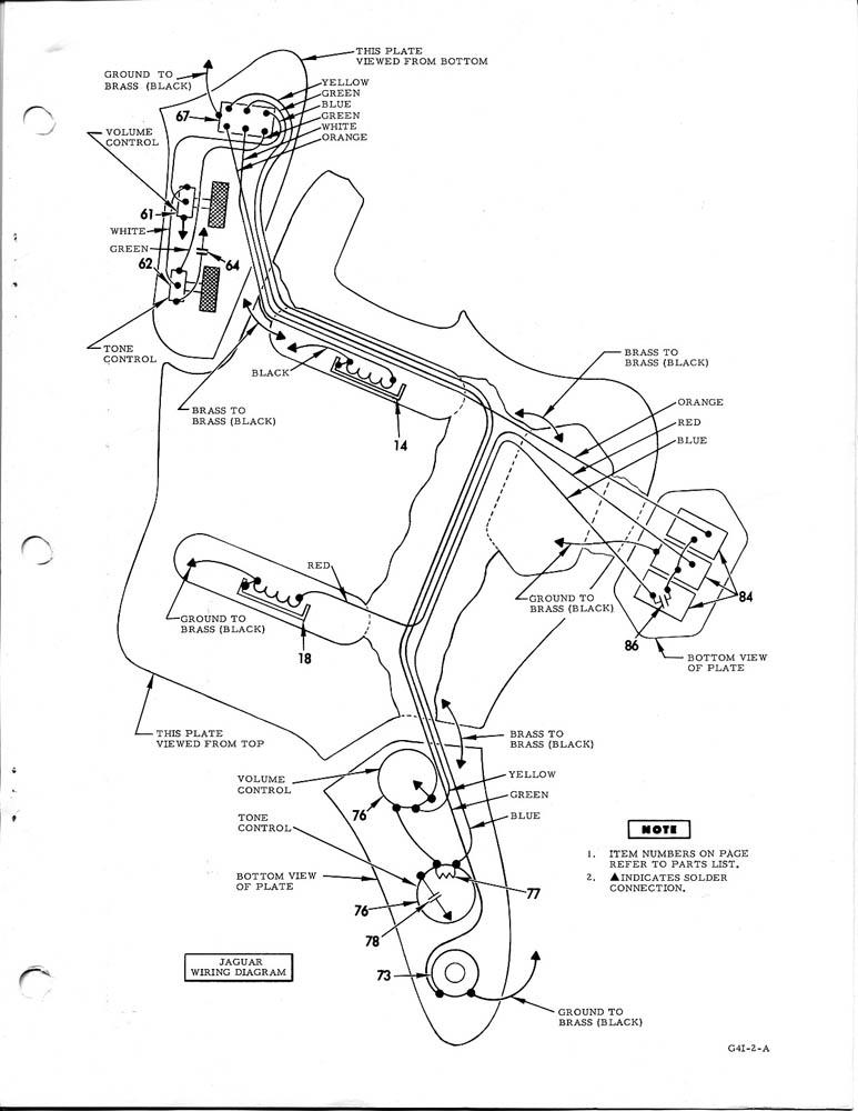 fender jaguar baritone wiring diagram