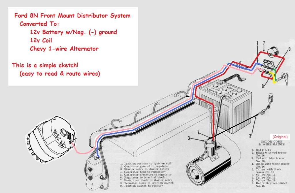 Ford 8n Side Distributor 12v Wiring Diagram