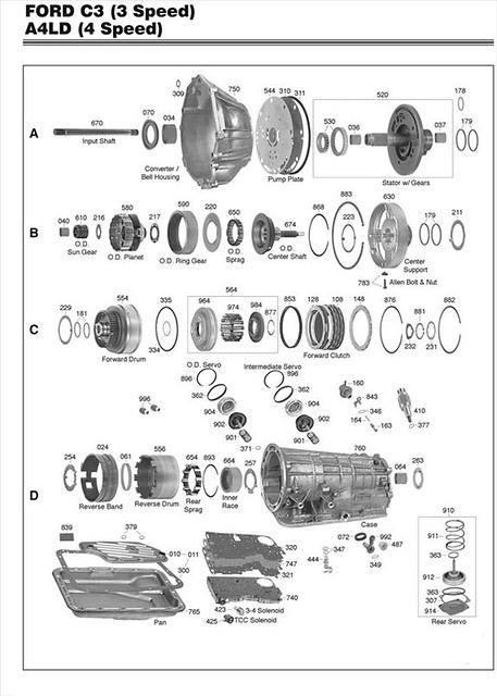Ford A4ld Transmission Parts Diagram