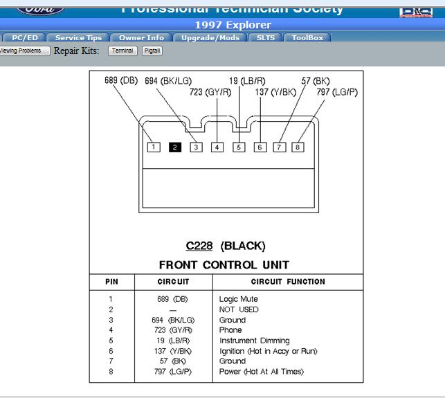 Ford Aerostar 1997 4 0l Wiring Diagram