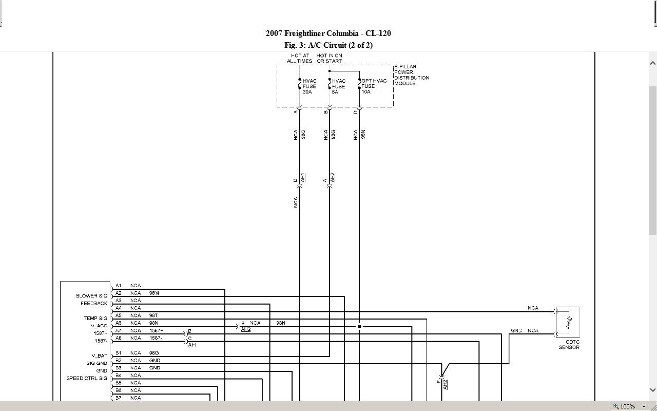 Freightliner Columbia Hvac Wiring Diagram