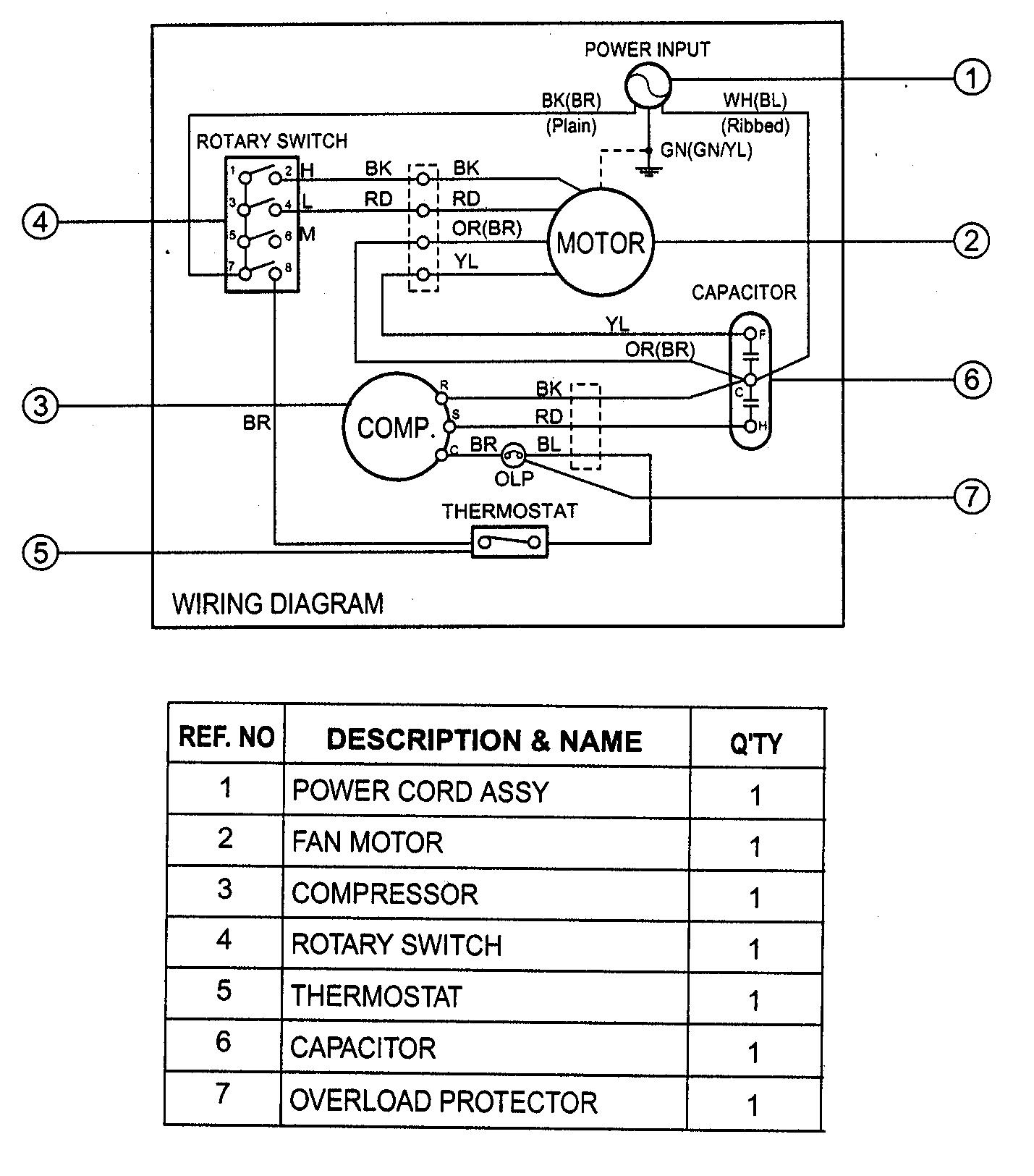 Haier Ac Compressor Wiring Diagram Model Hwr10xc6