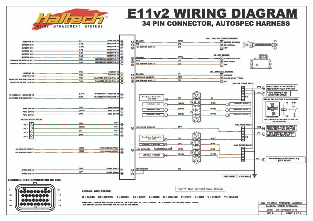 on haltech ecu wiring diagram