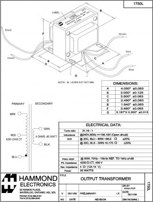 hammond-transformer-c1f005wes-wiring-diagram-6 Hammond Transformers Wiring Diagram on