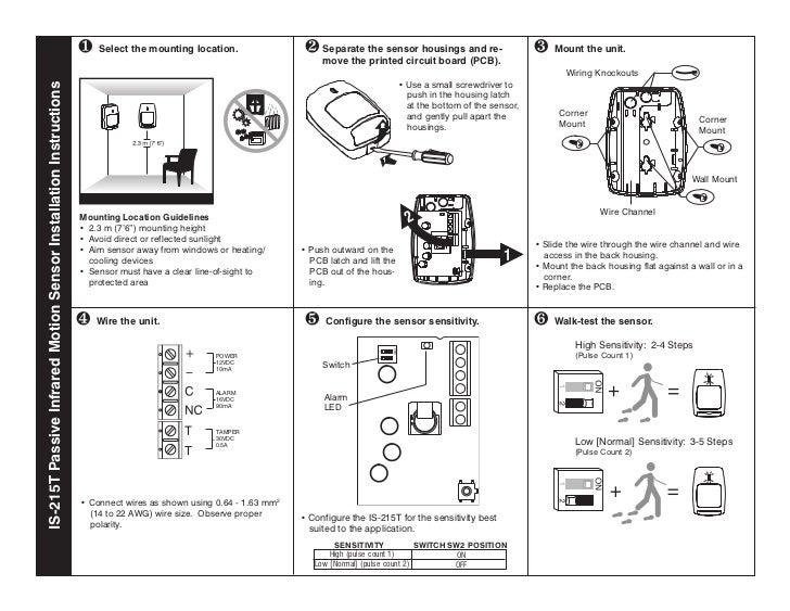Honeywell Is2535 Motion Detector Wiring Diagram