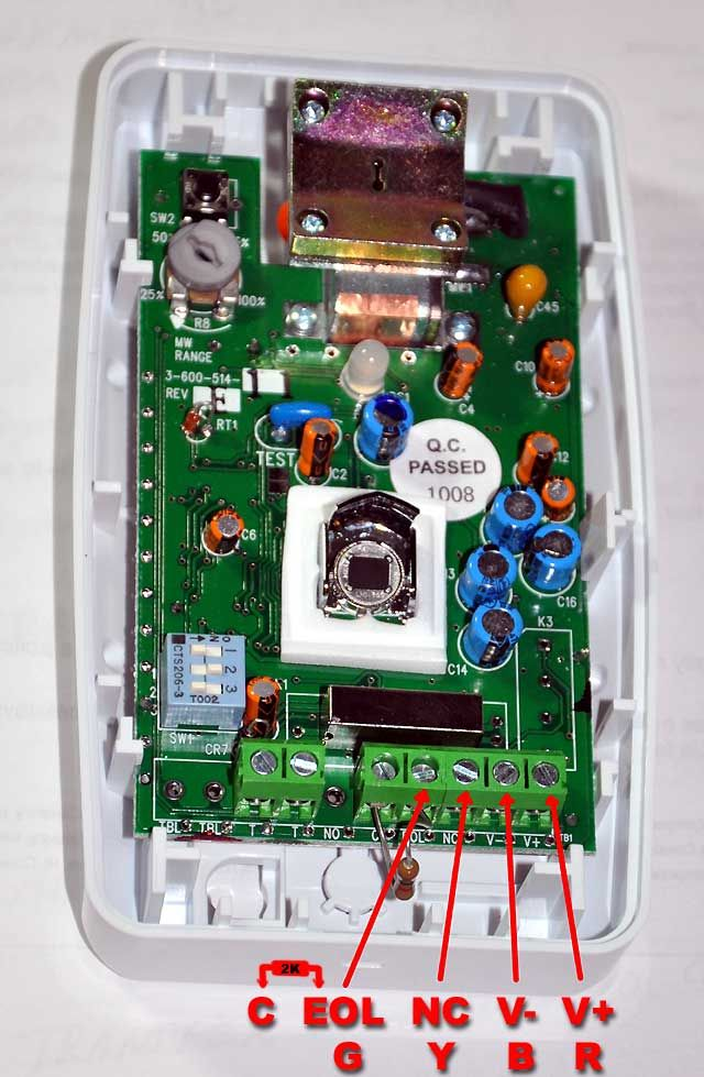 Honeywell Is2535 Motion Detector Wiring Diagram