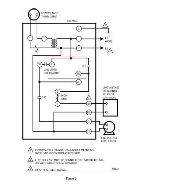 Honeywell L8124a Wiring Diagram