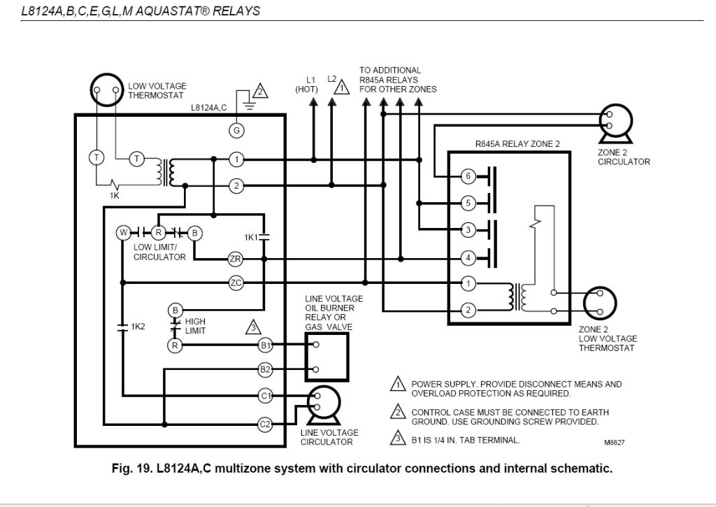 Honeywell L8148a Wiring Diagram