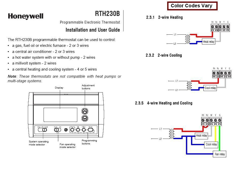 Honeywell Rth2300 Wiring Diagram