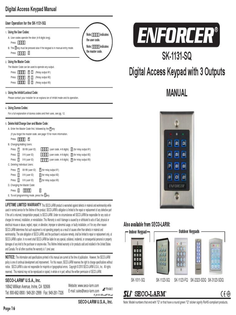 Iei 212w Keypad Wiring Diagram