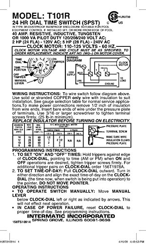 Intermatic T101r Wiring Diagram 120v