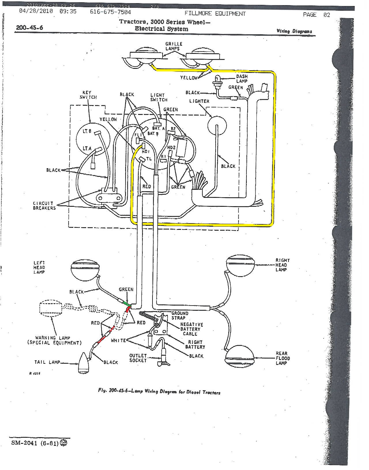 john deere 2240 wiring diagram light john deere light switch diagram john deere 3010 starter switch wiring diagram #8