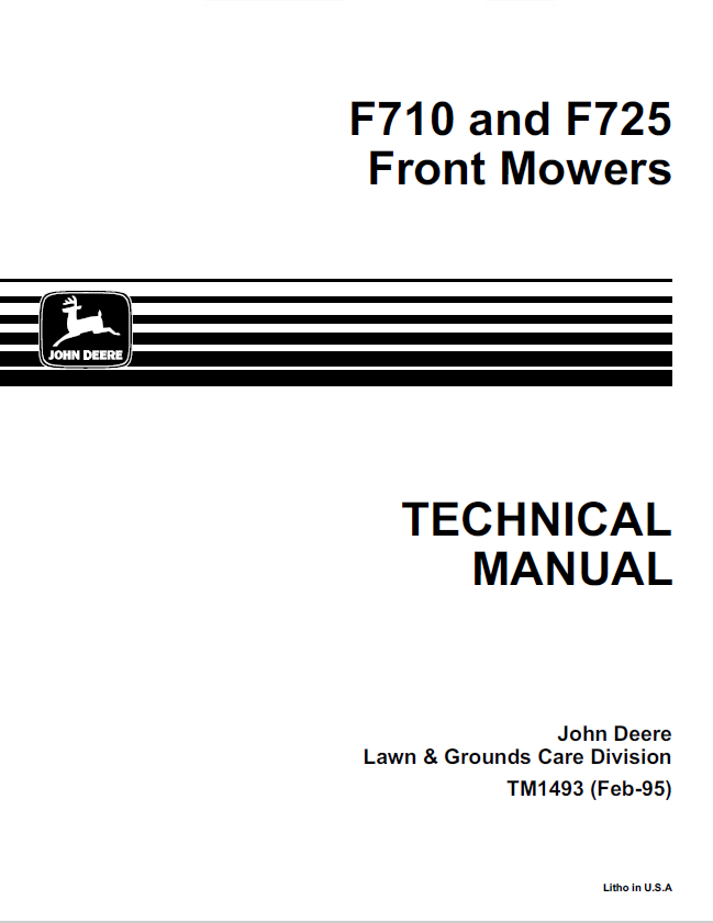 John Deere F725 Front End Mower Wiring Diagram