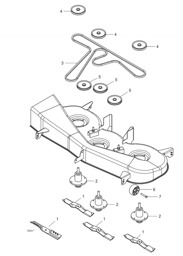 John Deere G110 Mower Belt Diagram