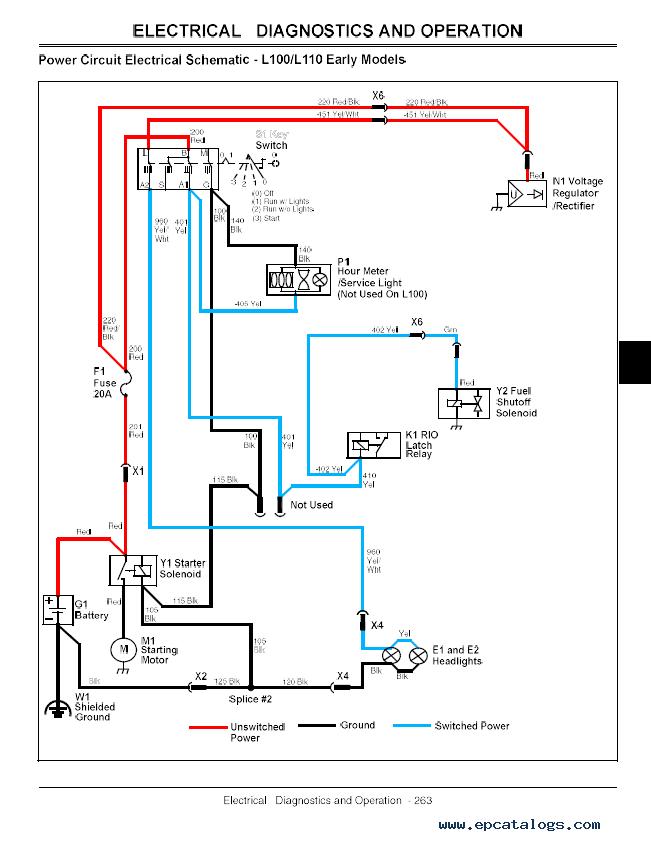 John Deere L120 Wiring Diagram Charging