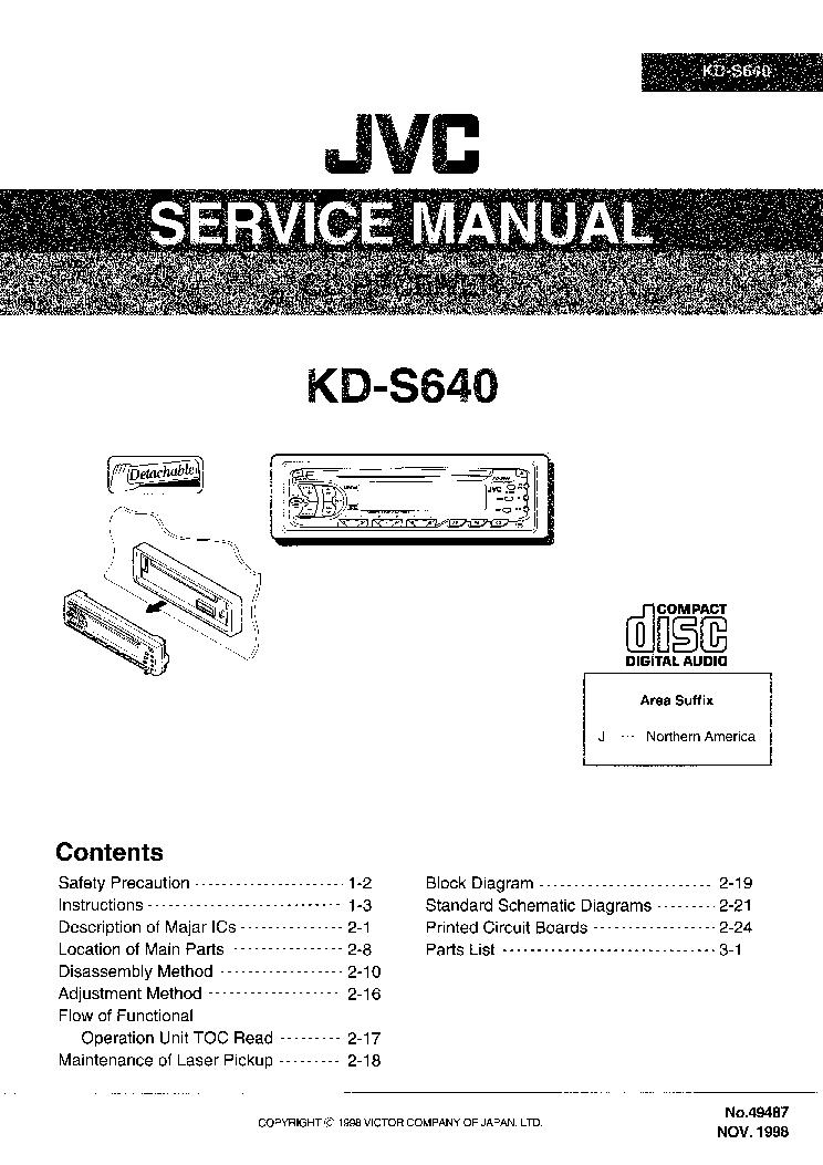 Jvc Kd R950bt Wiring Diagram
