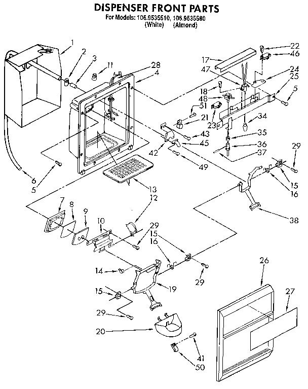 Kenmore 1069535580 Refrigerator Wiring Diagram on