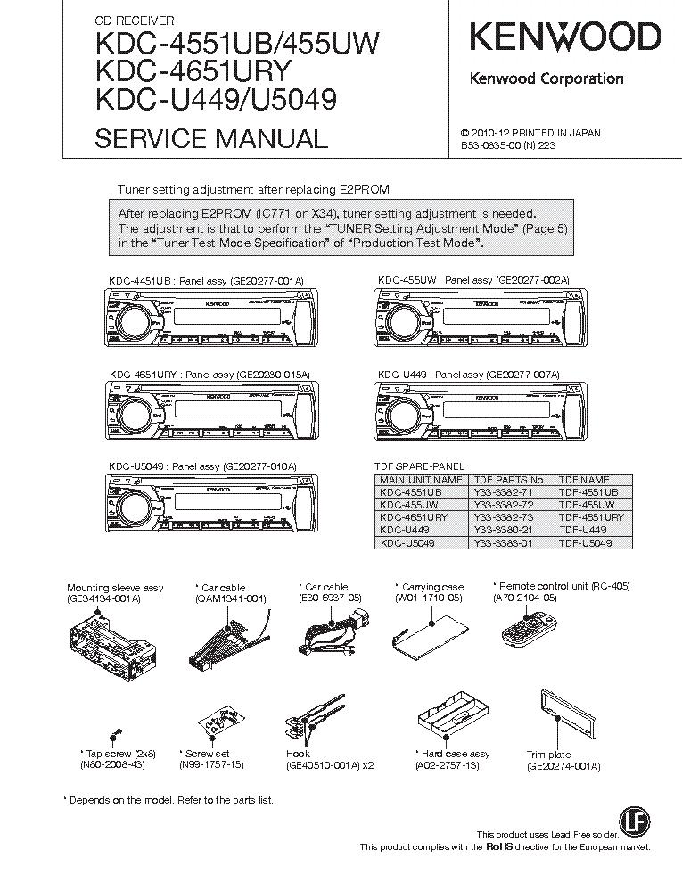 Kenwood Kdc 610u Wiring Diagram