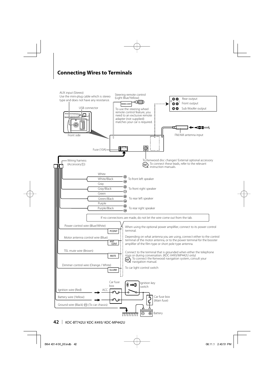 Kenwood Kdc Mp238 Wiring Diagram