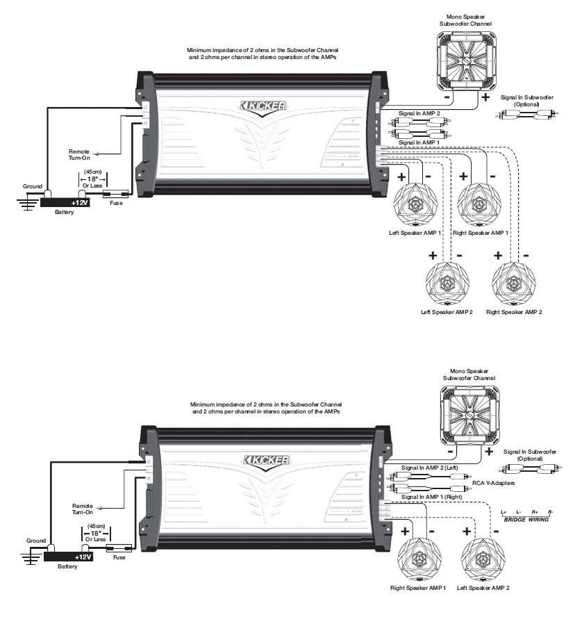 Awesome Kicker Cxa1800 1 Wiring Diagram Wiring Database Redaterrageneticorg