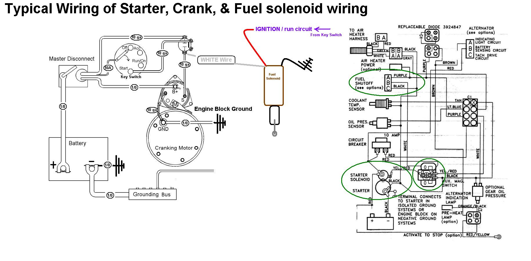 Kubota Fuel Shut Off Solenoid Wiring Diagram