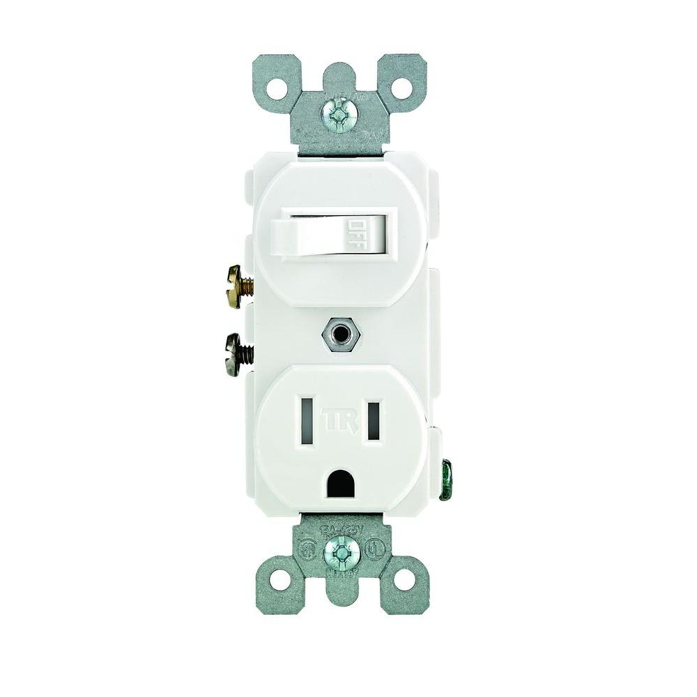 Leviton Combination Switch And Tamper Resistant Outlet