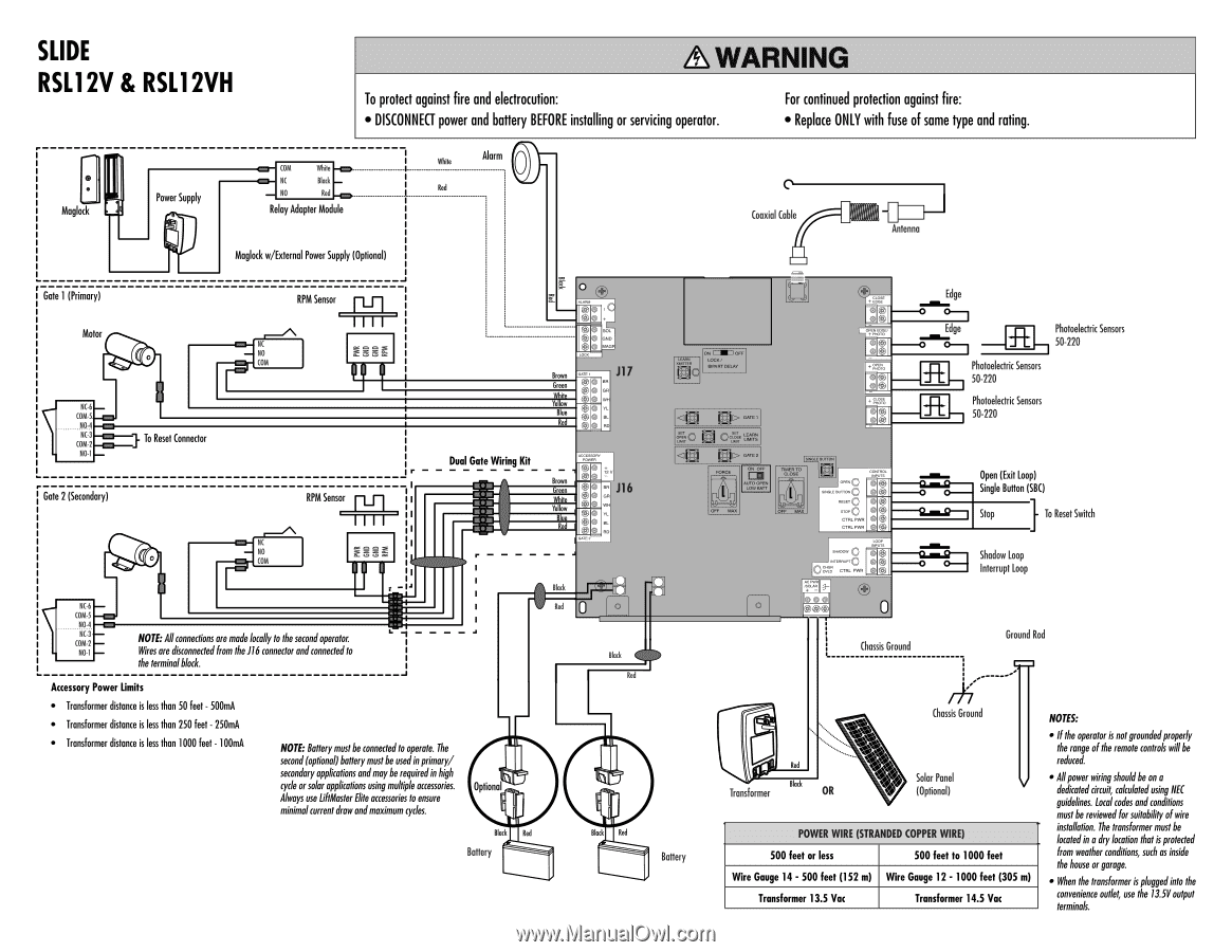 Liftmaster 41a5021 Wiring Diagram