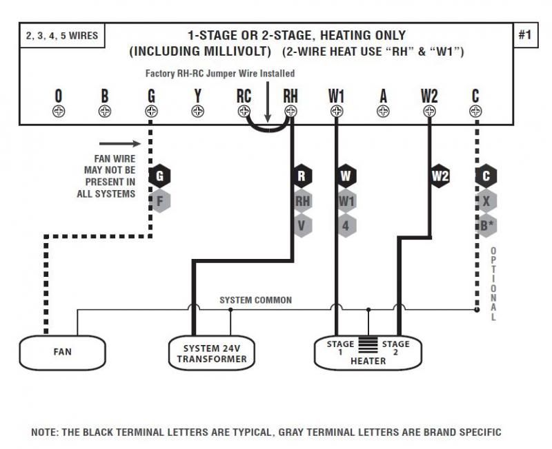 Honeywell Heat Only Thermostat Wiring Diagram from diagramweb.net