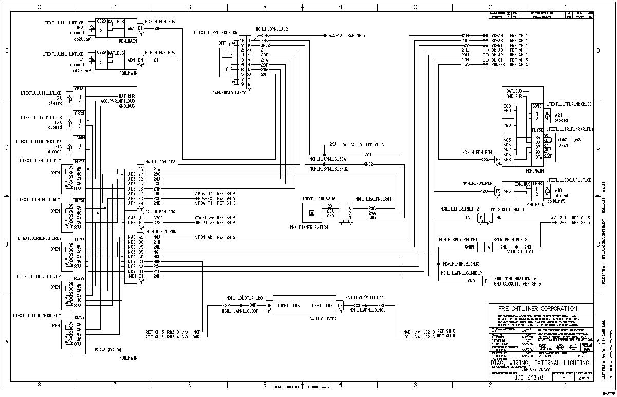 M2 Freightliner Headlight Wiring Diagram
