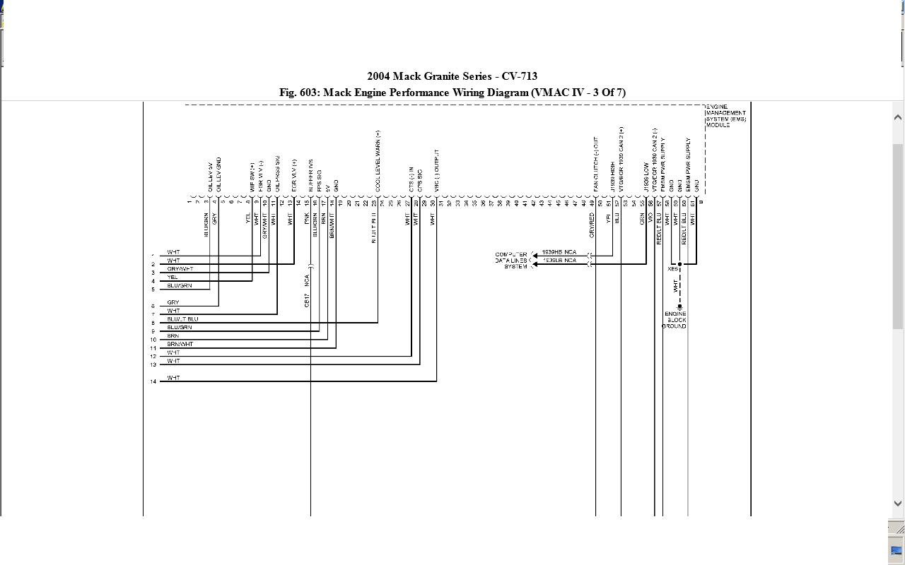 mack cv713 wiring diagram