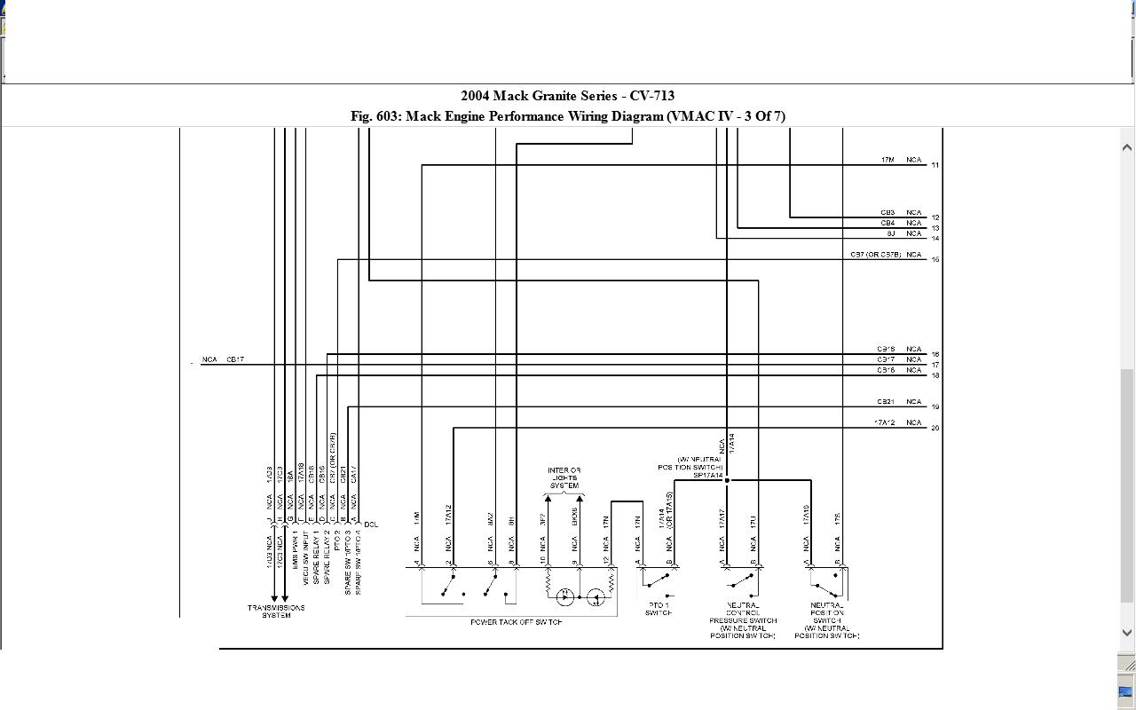 Mack Cv713 Wiring Diagram Diagram Base Website Wiring Diagram