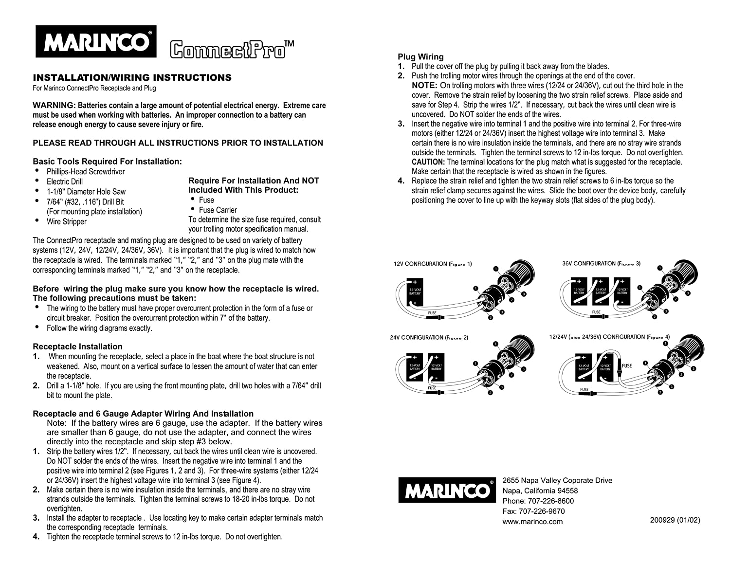 Marinco Wiring Diagram
