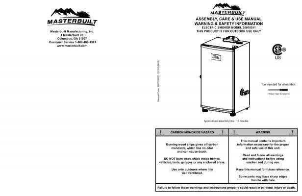 Masterbuilt Esq30bp Electric Smoker Wiring Diagram