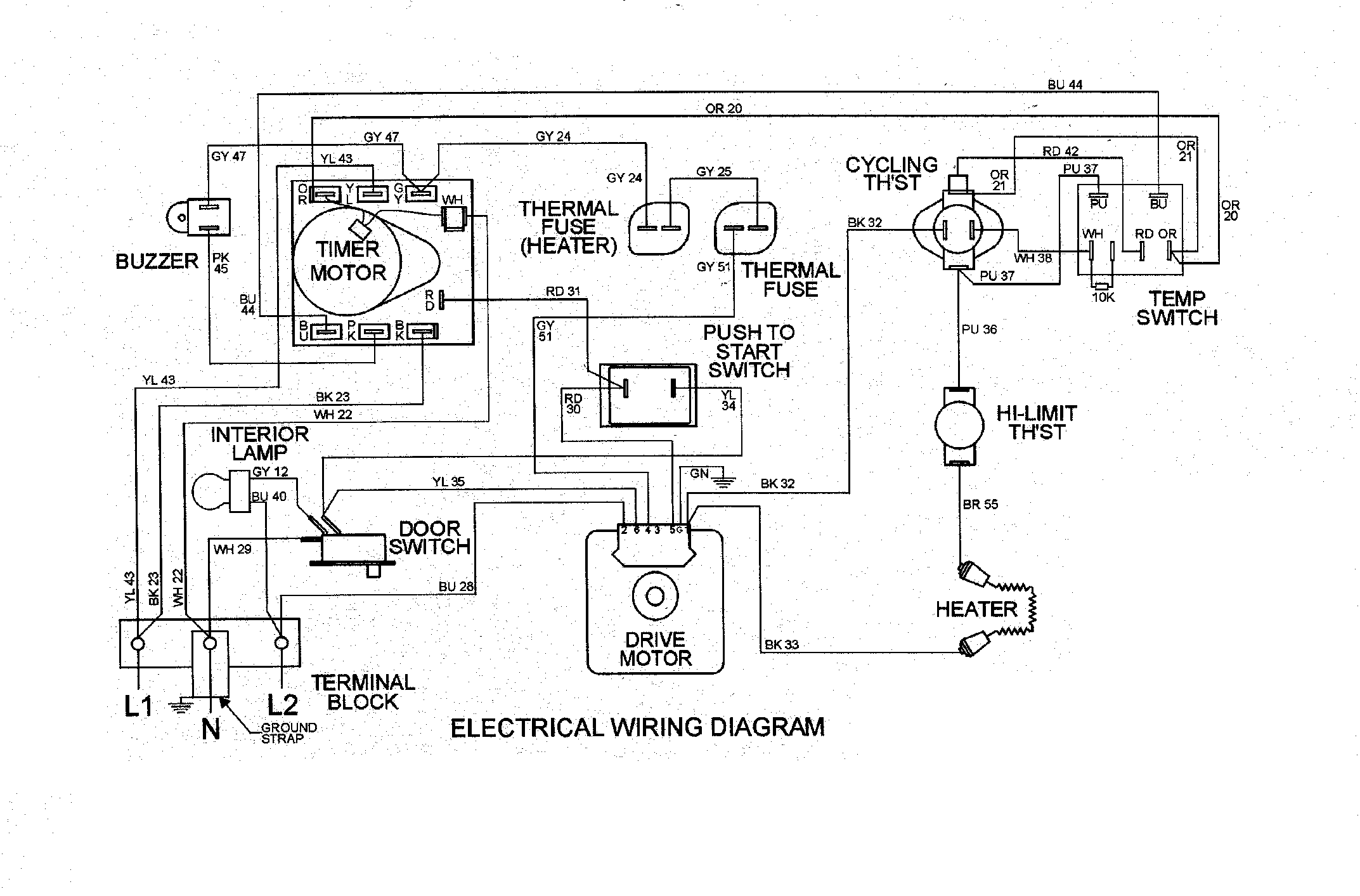 Maytag Dryer Door Switch Wiring Diagram from diagramweb.net