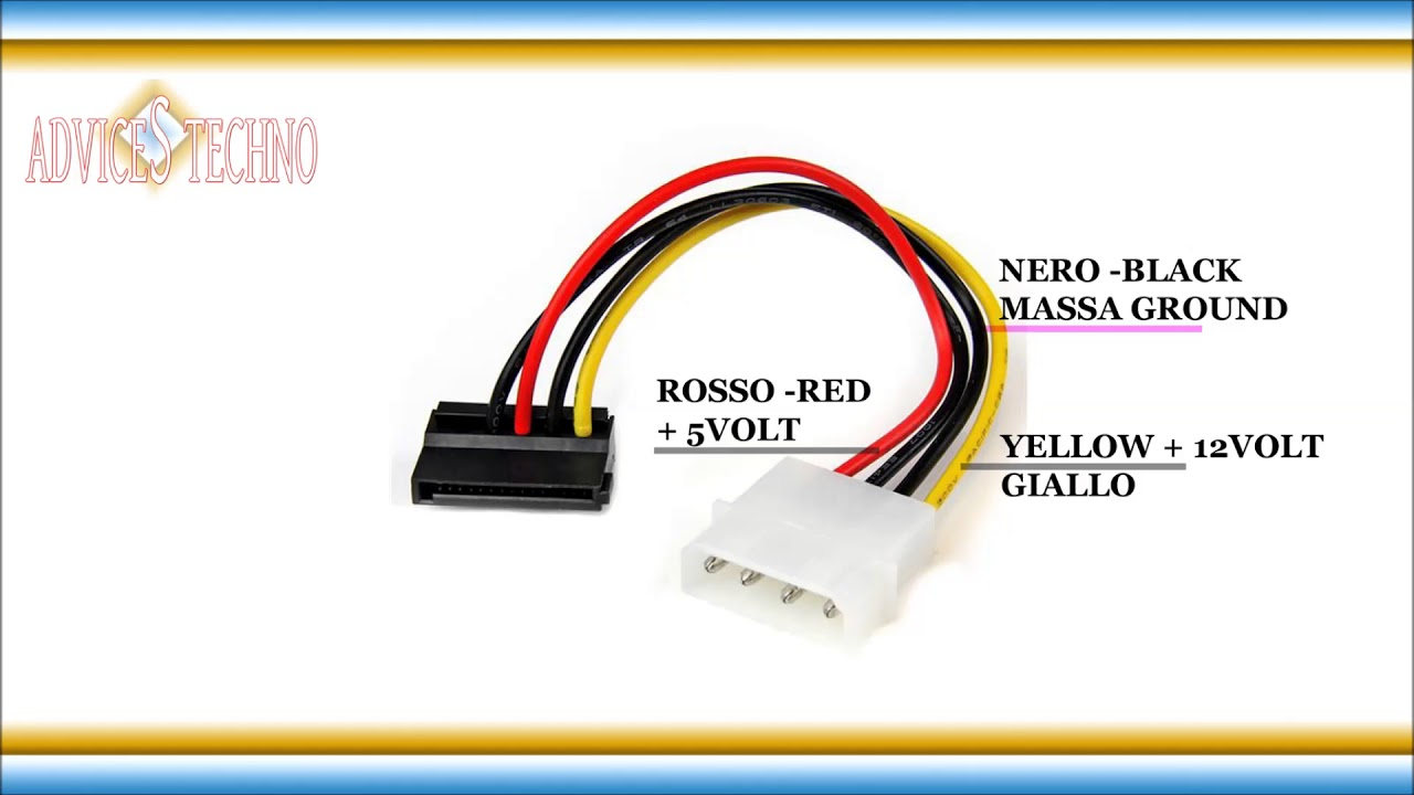 Diagram Molex To Sata Wiring Diagram
