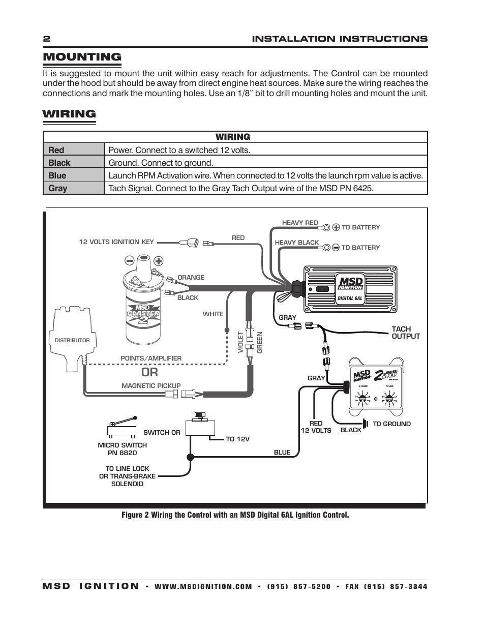 Msd 8860 Wiring Harness Diagram