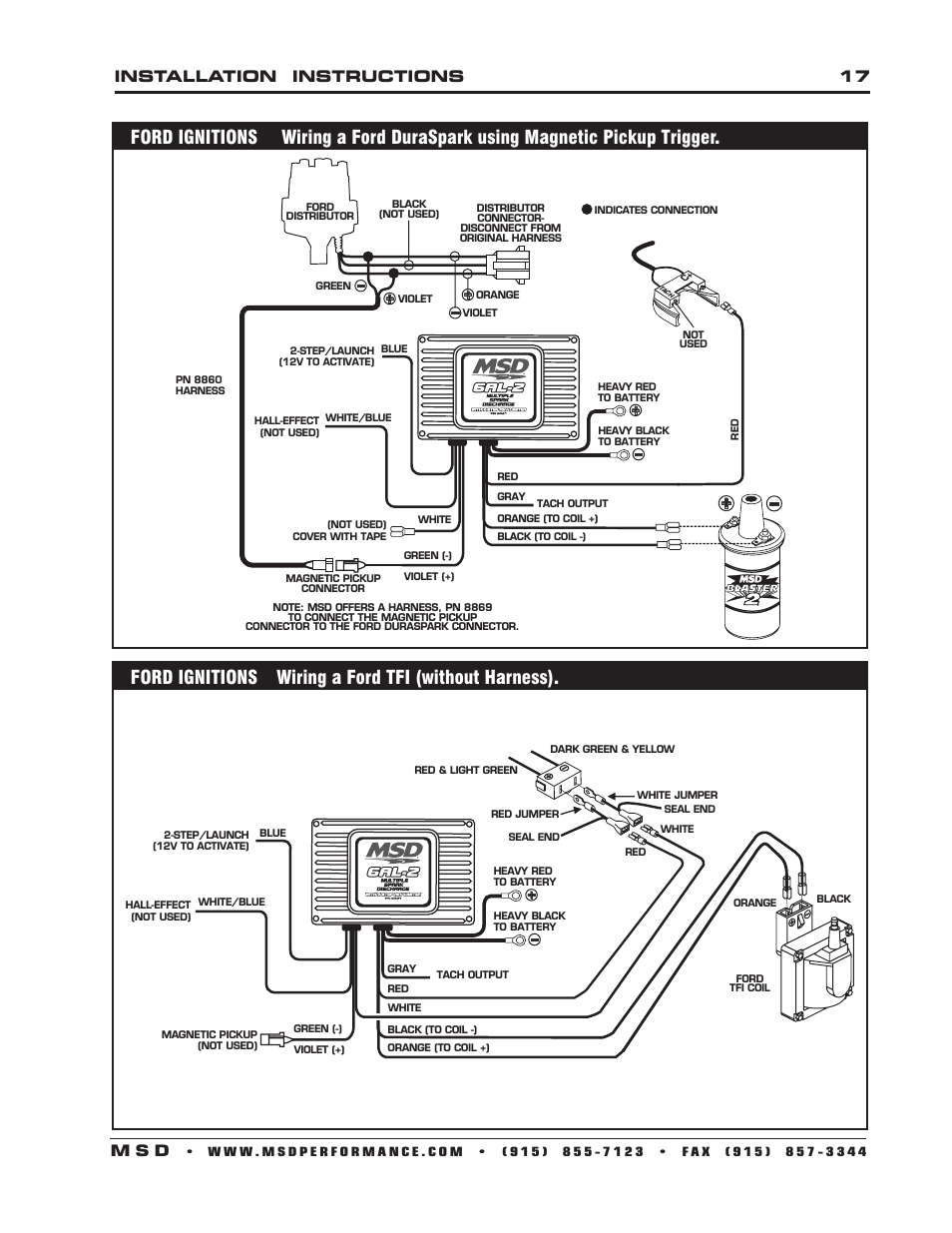 Msd 7al2 Wiring Diagram