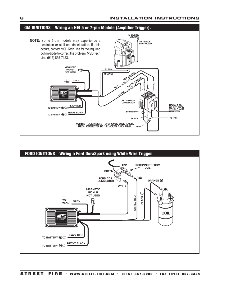 Msd Streetfire 5520    Wiring       Diagram    For Chevy With Magic