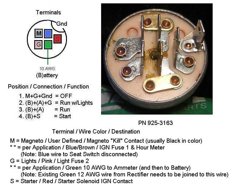 Mtd Lawn Mower Switch 6 Terminal Wiring Diagram