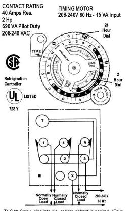 Paragon Defrost    Timer    814120    Wiring       Diagram