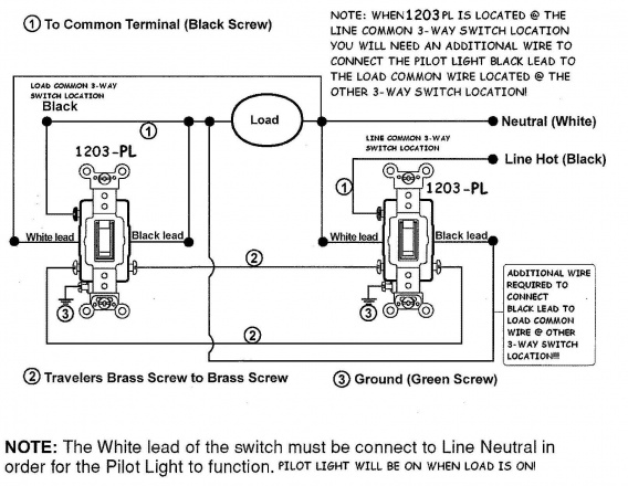 Pass And Seymour 3 Way Switch Wiring Diagram