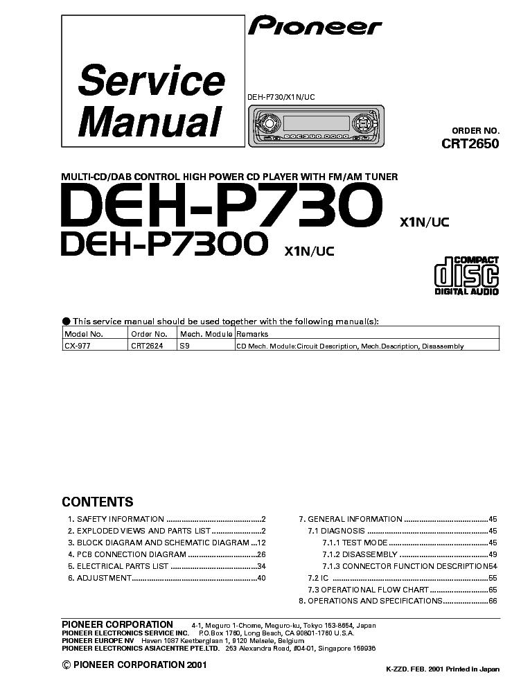 Pioneer Deh 2200ub Wiring Diagram