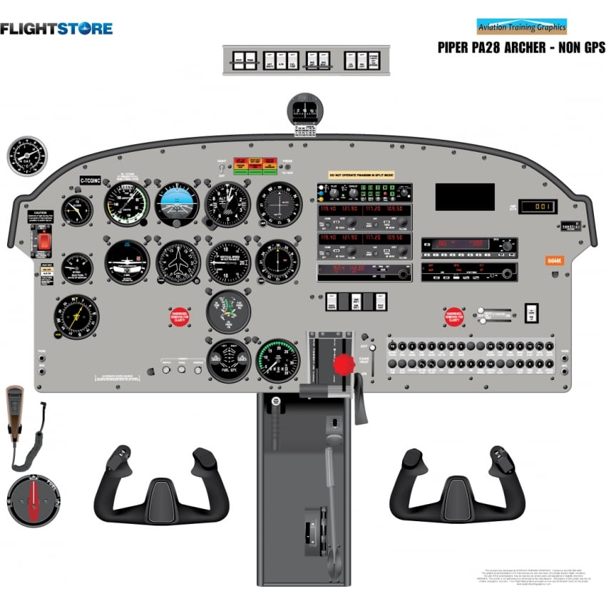 Piper Warrior Instrument Panel Diagram